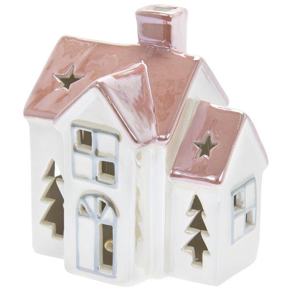 LED HOUSE STAR&TREE PNK&WHT