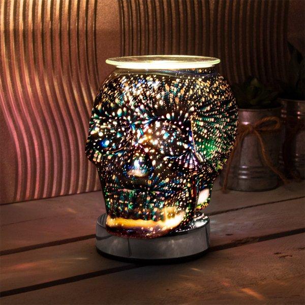 DESIRE SKULL AROMA LAMP BLK
