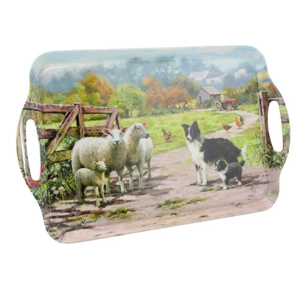 COLLIE & SHEEP TRAY XL