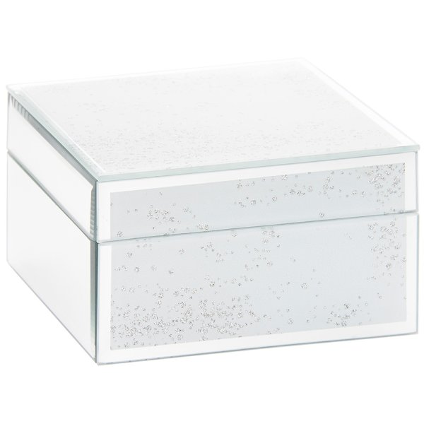 SILVER GLIT JEWELLERY BOX