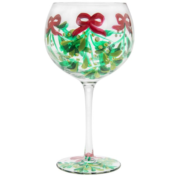 XMAS HAND PAINTED GLASS