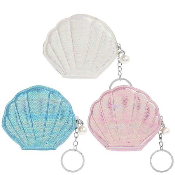 SHELL PURSE/KEYRING 3 ASST