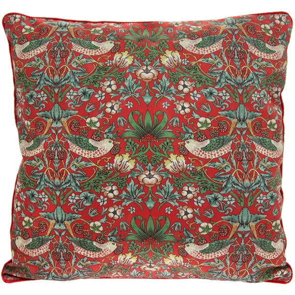 STRAWBERRY THIEF RED CUSHION
