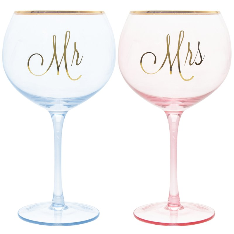 MR & MRS GIN GLASSES
