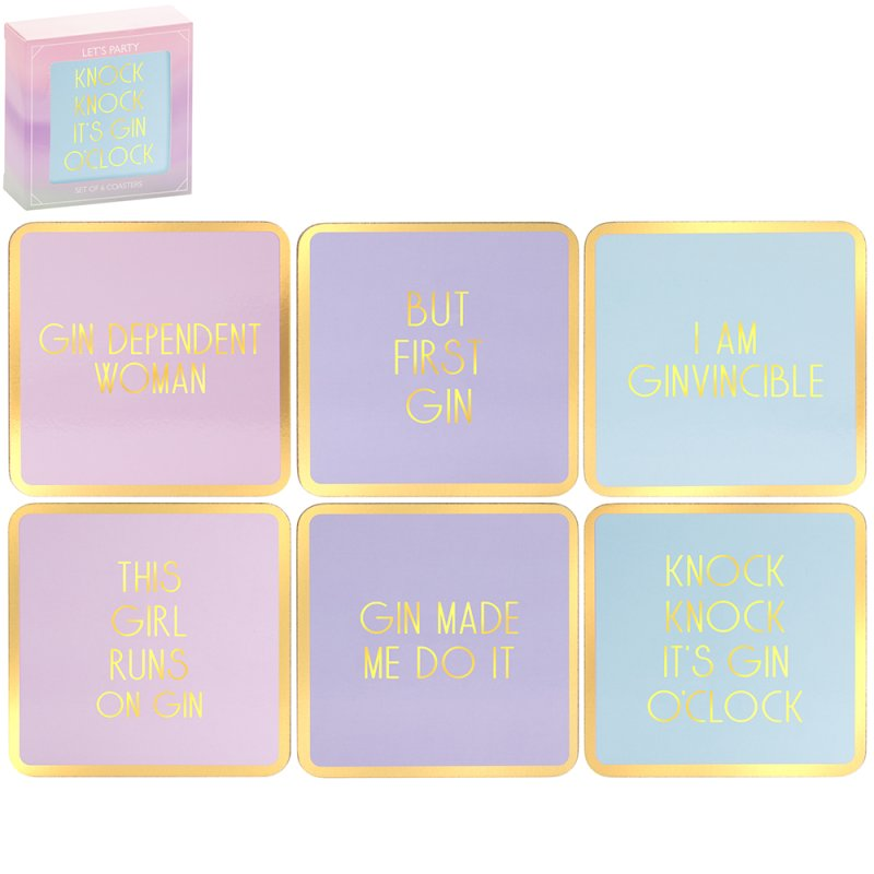 GIN COASTERS SET OF 6