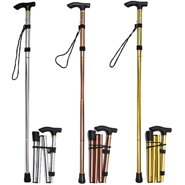 FOLDING WALKING STICK MET 3AS