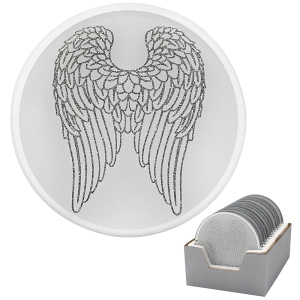 ANGEL WINGS CANDLE PLATE 10CM