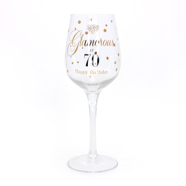 MADDOTS 70 BDAY WINE GLASS