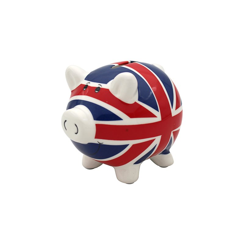 UNION JACK PIGGY MONEY BOX SML