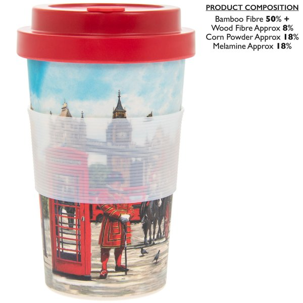 LONDON COLLAGE BAMBOO TRVL MUG