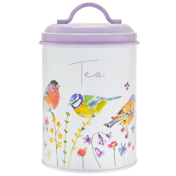 GARDEN BIRDS TEA CANISTER