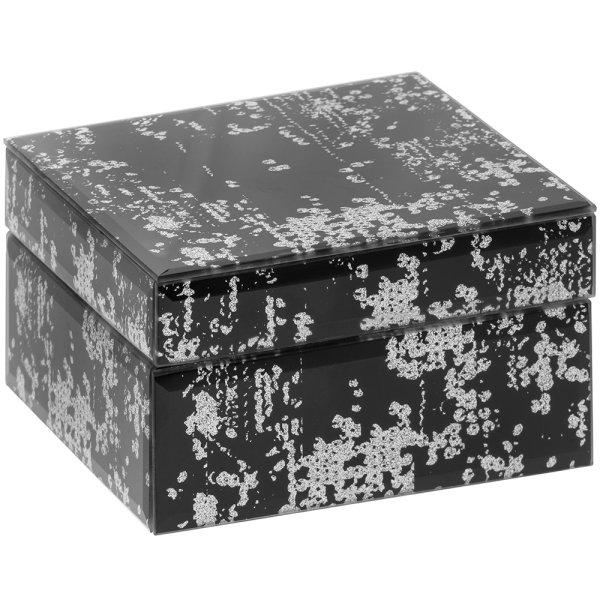 BLK RIPPLE MIRROR JEWELLRY BOX