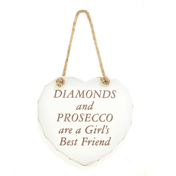 DIAMONDS & PROSECCO PLAQUE