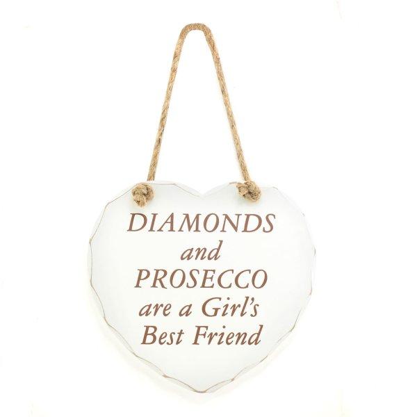 DIAMONDS & PROSECCO PLAQUE