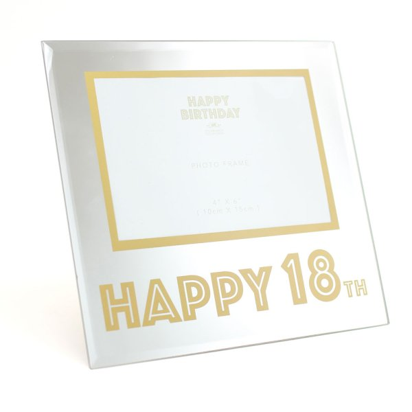 MIRROR&GOLD 18TH BDAY FRAME