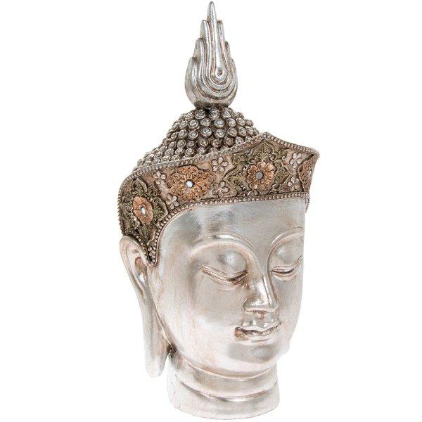 SILVER ART THAI BUDDHA HEAD