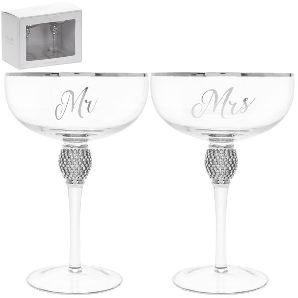 MR&MRS DIAMANTE COUPES SILV