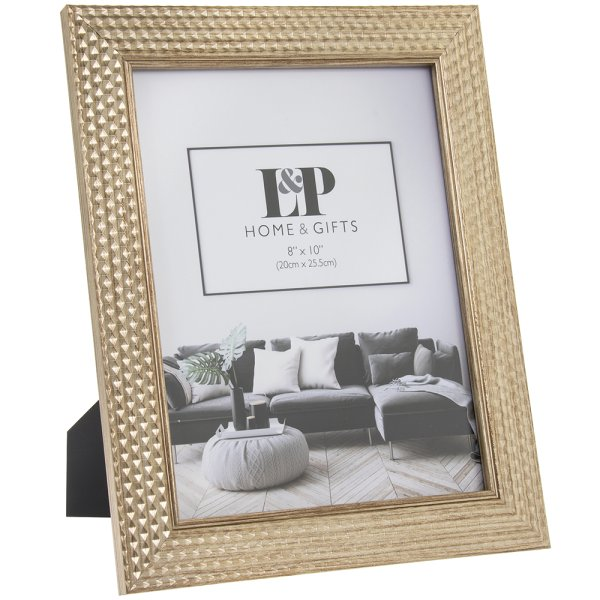 GOLD HEXAGON PHOTO FRAME 8X10