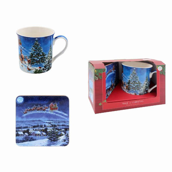 MAGIC OF XMAS MUG & COASTER