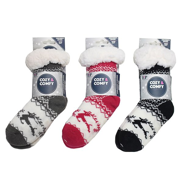 COZY KIDDY SOCKS 3 ASST