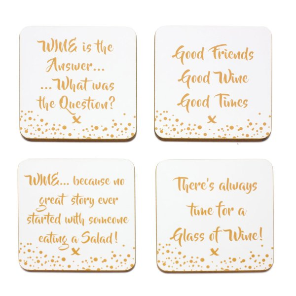 WINE COASTERS SET OF 4