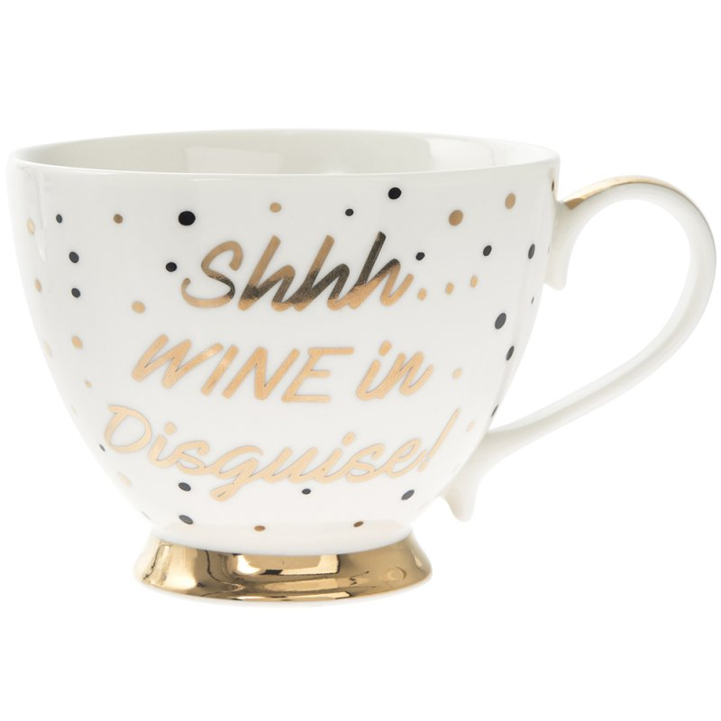 SHH...WINE FOOTED MUG