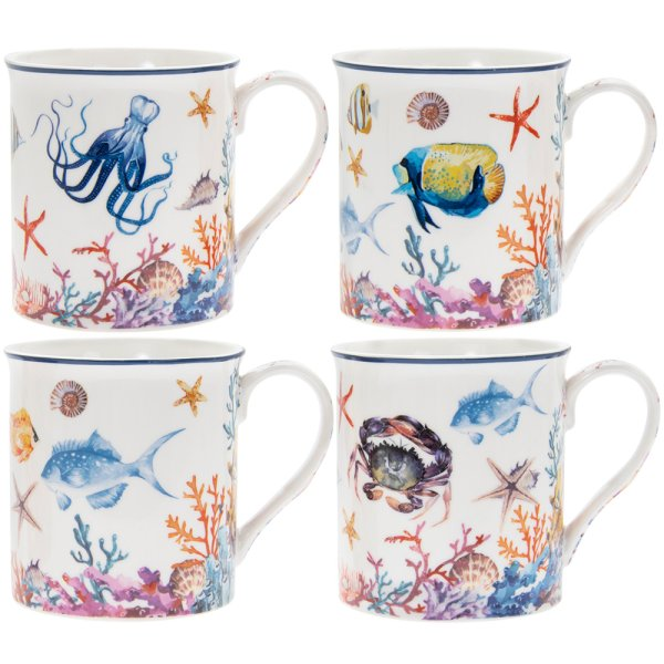 SEALIFE MUGS SET OF 4