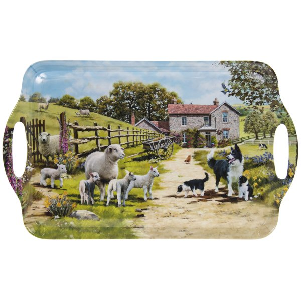 COLLIE & SHEEP TRAY LGE