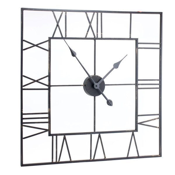 SQUARE SKELETON CLOCK 60CM