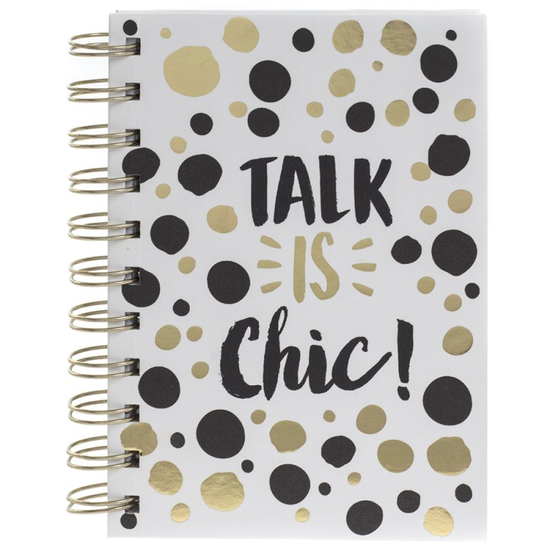 TALK IS CHIC GOLD NOTEBOOK