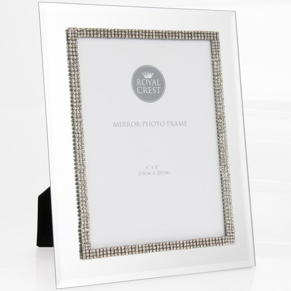 "MIRROR DIAMANTE FRAME 6""X8"""