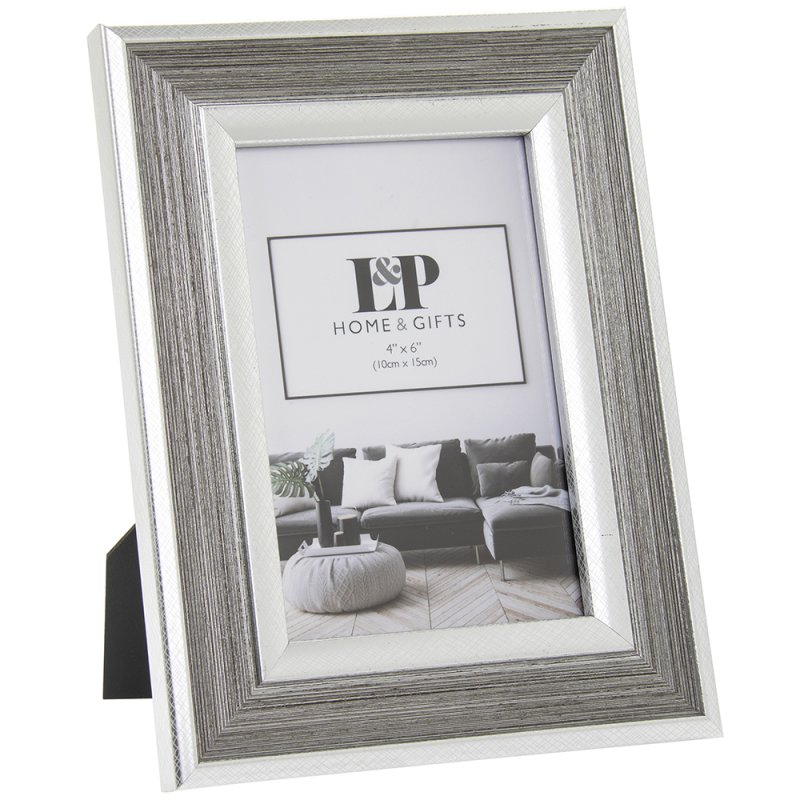 SILVER DUO PHOTO FRAME 4X6
