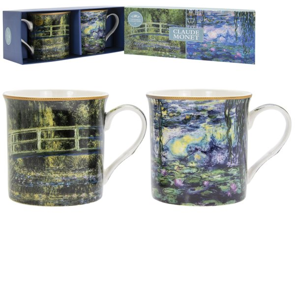 CLAUDE MONET MUGS SET OF 2