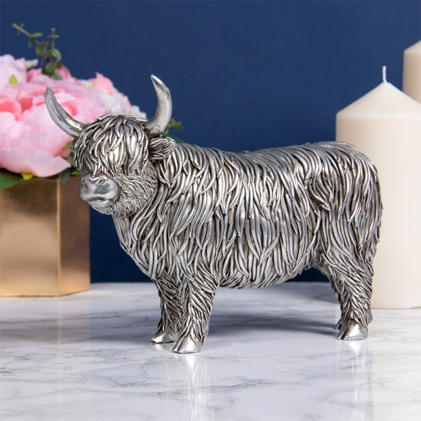 SILVER HIGHLAND COW