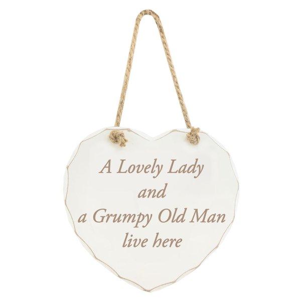 LOVELY LADY GRUMPY MAN PLAQUE