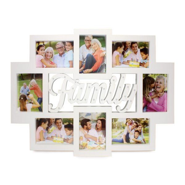 FAMILY PHOTO FRAME COLLAGE LED