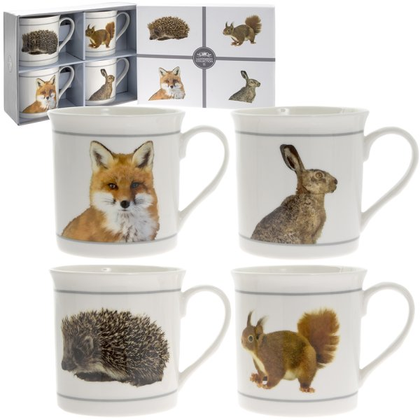 WILDLIFE MUGS SET OF 4