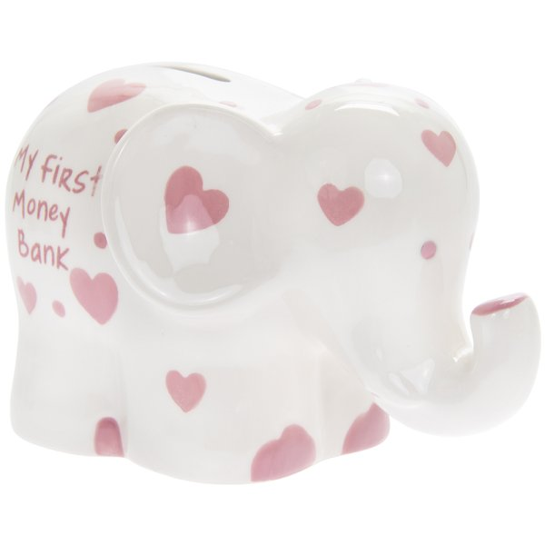 MY 1ST MONEY BOX ELEPHANT PINK