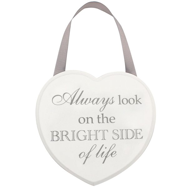 HEART PLAQUE BRIGHT SIDE HOME