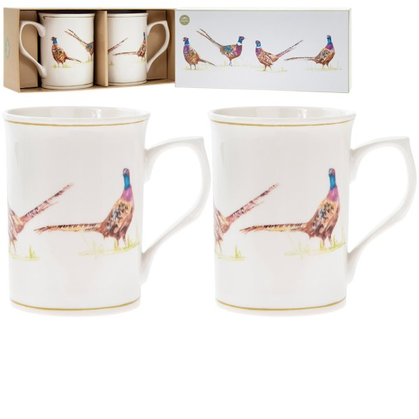 PHEASANT MUGS SET OF 2
