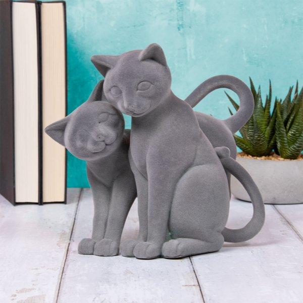 GREY VELVET TWIN CATS