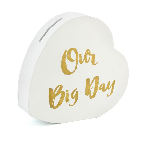 OUR BIG DAY HEART MONEY BOX
