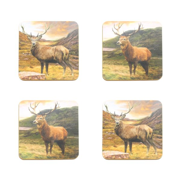 STAG COASTERS SET OF 4