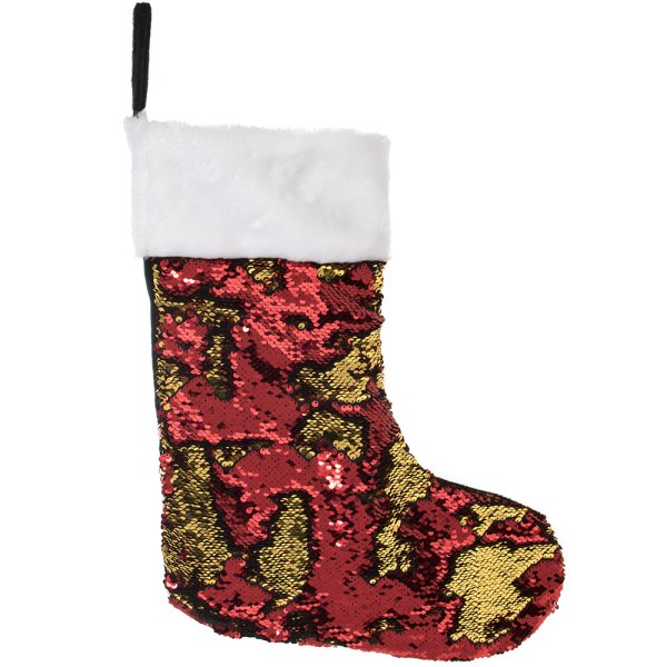 SEQUIN STOCKING RED/GLD