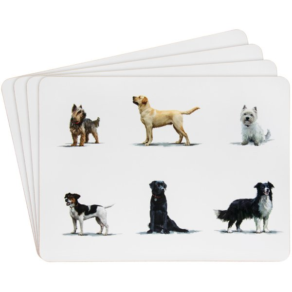 DOGS PLACEMATS 4 SET
