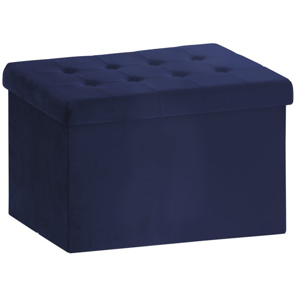 VELVET FOLDING BOX BLUE LARGE