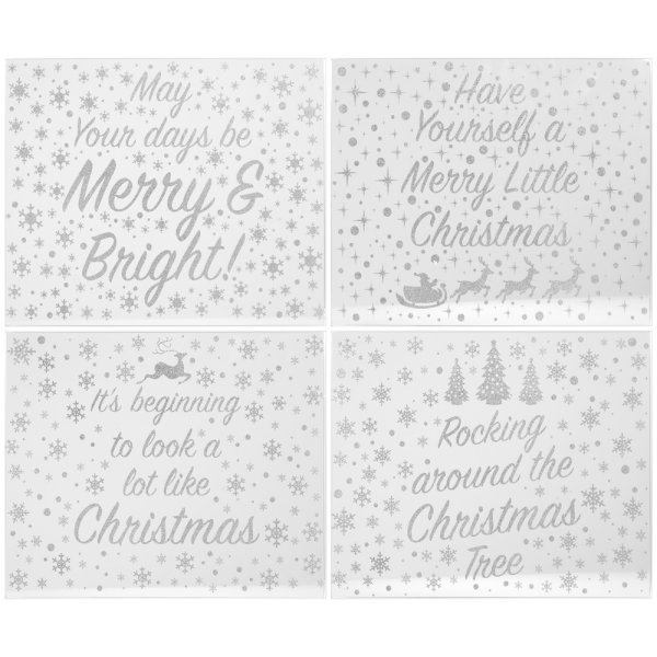 SIL GLITTER XMAS PLACEMATS S4