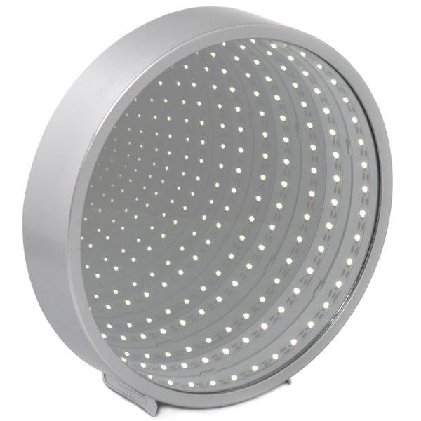 INFINITY MIRROR ROUND SLV LED