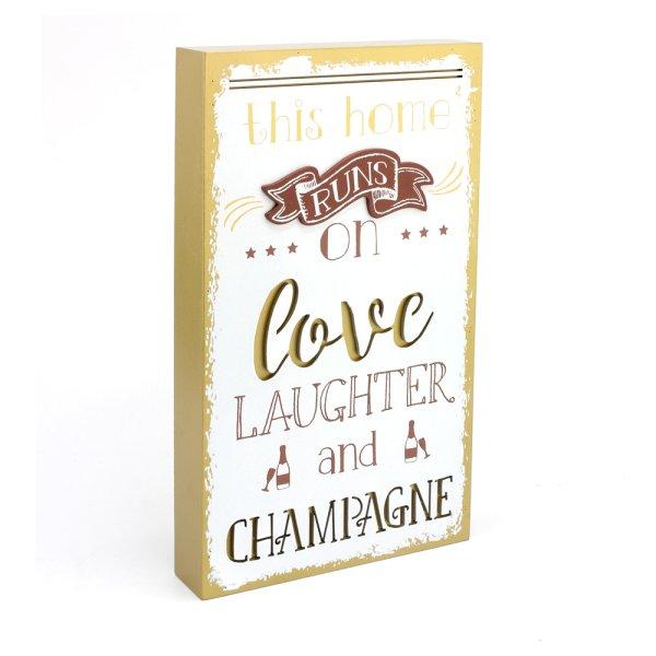 LOVE LAUGH CHAMP PLAQUE