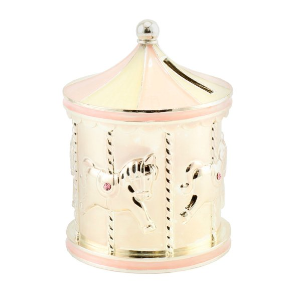 SP CAROUSEL MONEY BOX PINK